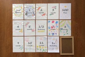インスタで話題!「月齢カード」の簡単な作り方を紹介!おしゃれに赤ちゃんの写真を残そう